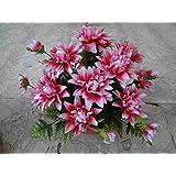 künstliche Grabgesteck Dahlien-lila
