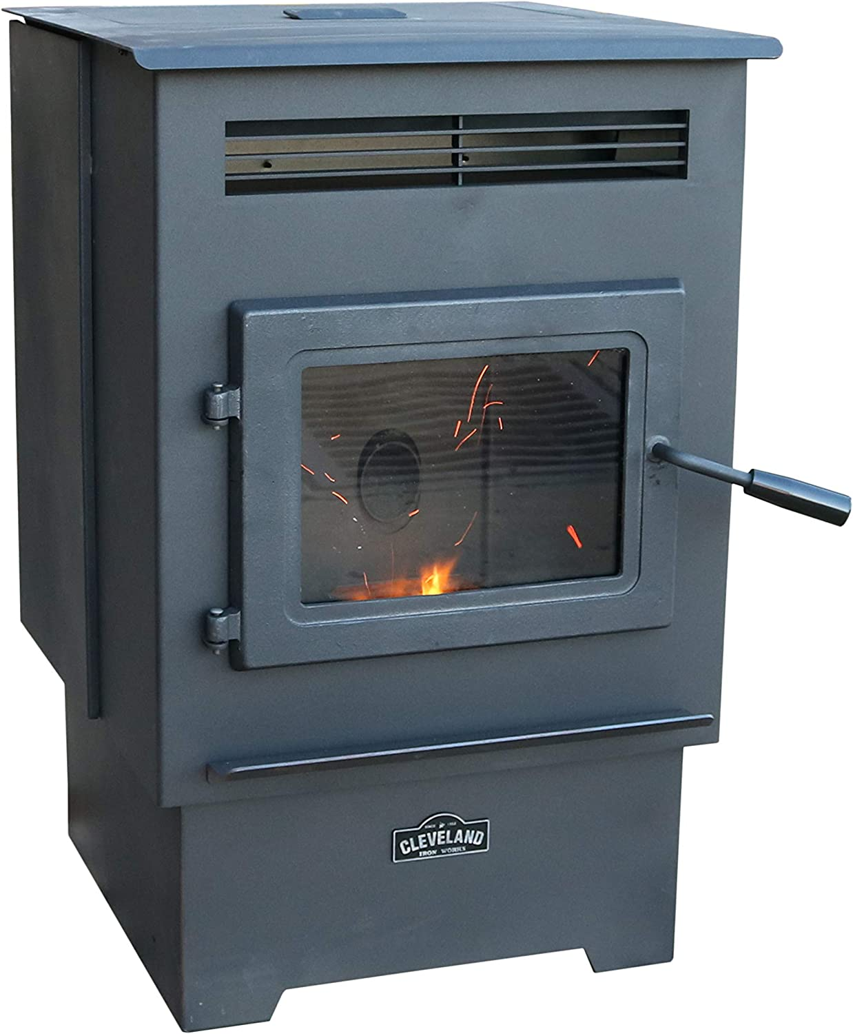Cleveland Iron Works PS60W-CIW Pellet Stove, Black