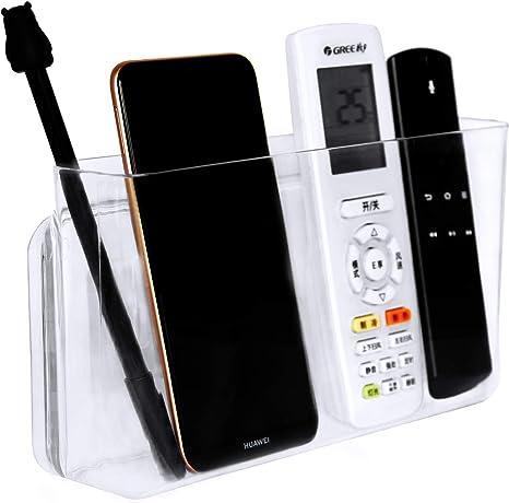 Pinowu Soporte Universal de Pared para Mando a Distancia (Grande y Grueso) – Organizador de Mesa Autoadhesivo para Aire Acondicionado, Caja de TV, estéreo, Mando a Distancia de TV (Transparente): Amazon.es: Electrónica