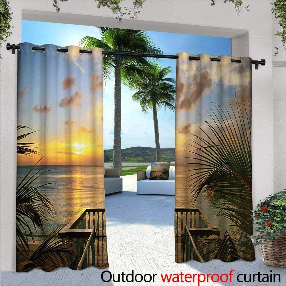 Ocean - Cortina de privacidad para exteriores con diseño de ...