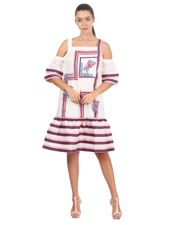 Pankaj and Nidhi Women's Shift Knee-Long Dress