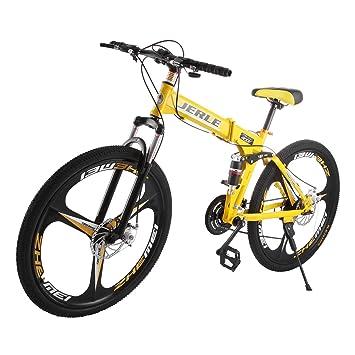 OrangeA Bicicleta de Montaña 26 Pulgadas 21 Velocidades Bicicleta Plegable Shimano Full Suspension para Hombre y