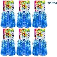 Hatisan-Pro 12 Pezzi PON-PON Cheerleading Pompon Sport Danza Allegria Pompon di Plastica per Applauso dello Spirito della Squadra di Sport