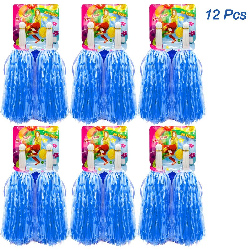 12 Stück Pompons Cheerleading Cheerleader, Halten Hand Shank Cheerleader Pompons Hatisan-Pro