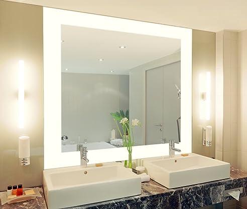 Badspiegel Mit Beleuchtung Vella M444L4: Design Spiegel Für