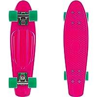 "Retrospec Quip Skateboard 22.5"" Classic Plastic Mini Cruiser Complete Skateboard w/ABEC 7 Bearings"