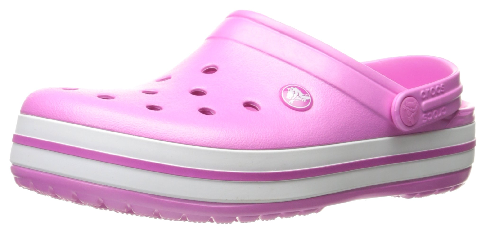 crocs Unisex Crocband Clog, Party Pink, 6 US Men / 8 US Women