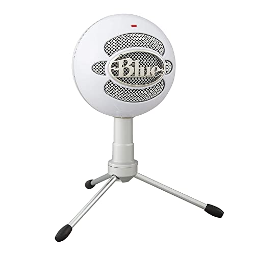 Blue Microphones Snowball ICE USB Mic para grabación y transmisión en PC y Mac cápsula de condensador cardioide soporte ajustable Plug and Play Blanco