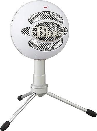 Todo para el streamer: Blue Microphones Snowball ICE - Micrófono USB para grabación y transmisión en PC y Mac, cápsula de condensador cardioide, soporte ajustable, Plug and Play, color Blanco