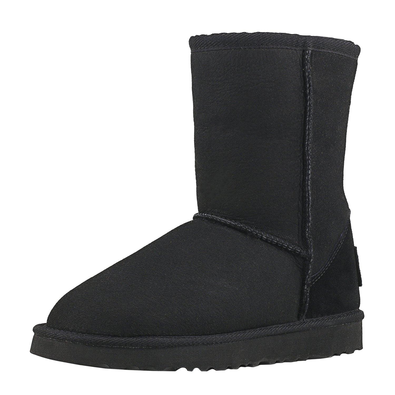 Shenduo Femme, Bottes de Neige Noir Antidérapantes Doublure 12626 Chaude, Boots de d'Hiver Classiques Mi-Mollet DV5825 Noir f4b7935 - deadsea.space