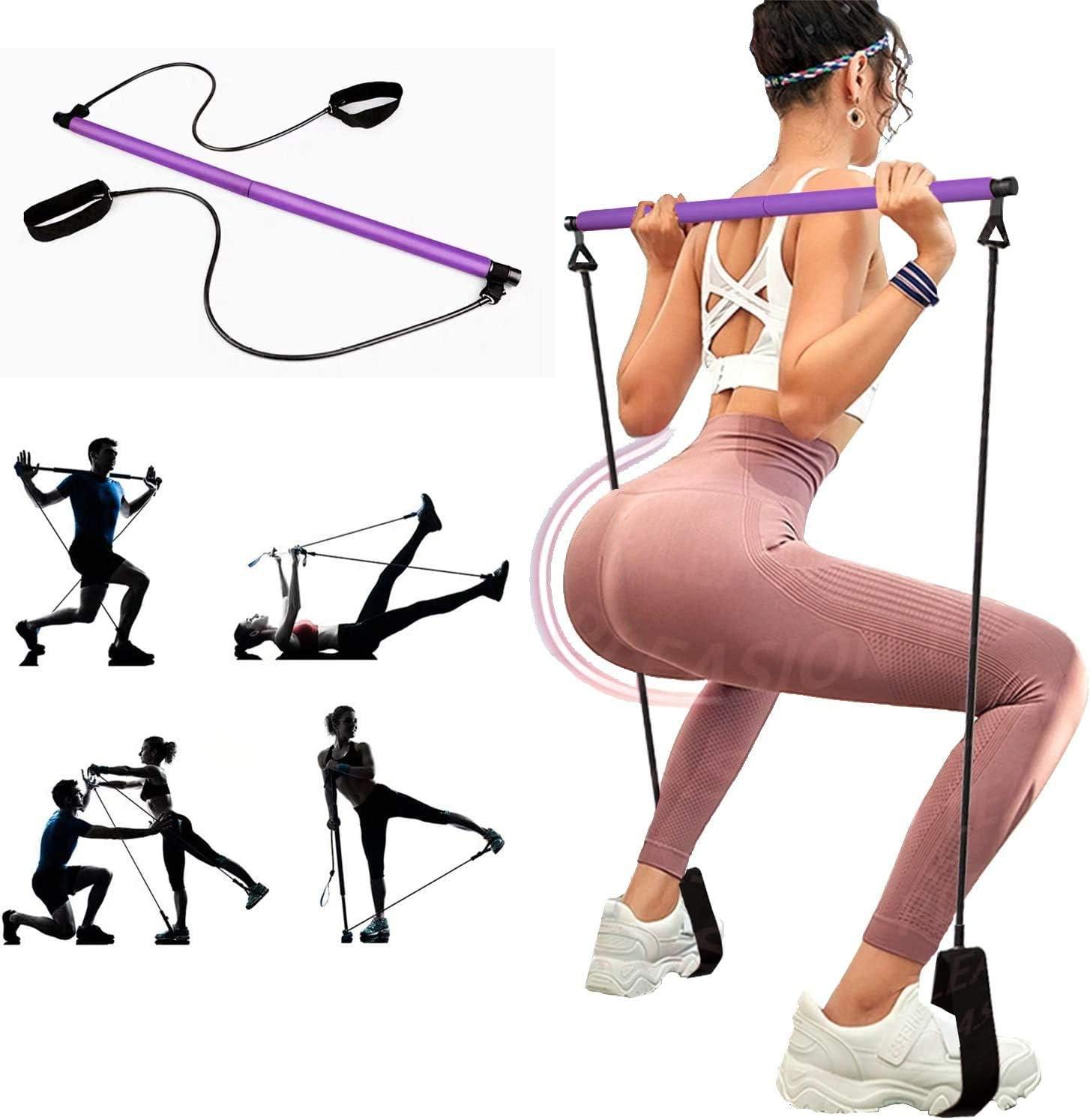 Multi Fonction Yoga bar Câble De Tension pilates fitness Bar Yoga Bar Gymstick