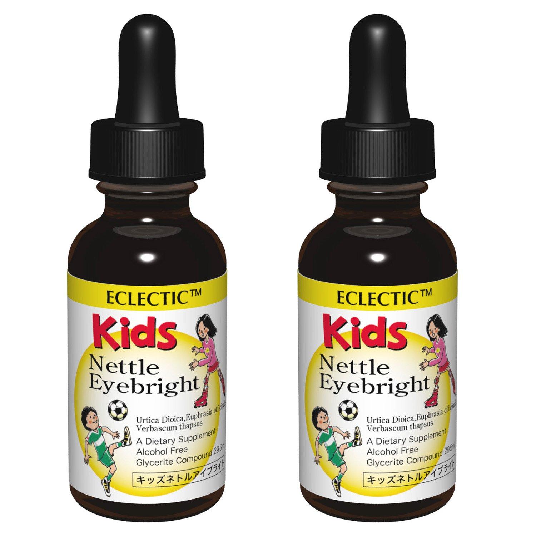 ECLECTIC Kids エクレクティック ハーブサプリメント キッズ ネトルアイブライト チンキ 液体 1オンス 29.5ml 2個セット B00S958LAY