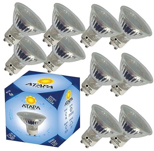 Atapa 10 X Gu10 Led Lampe 4 Watt Ersetzt 50w 360 Lumen Mit 120