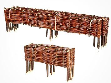 BooGardi Clôture en bois de saule pour Bordure plate-bande ...