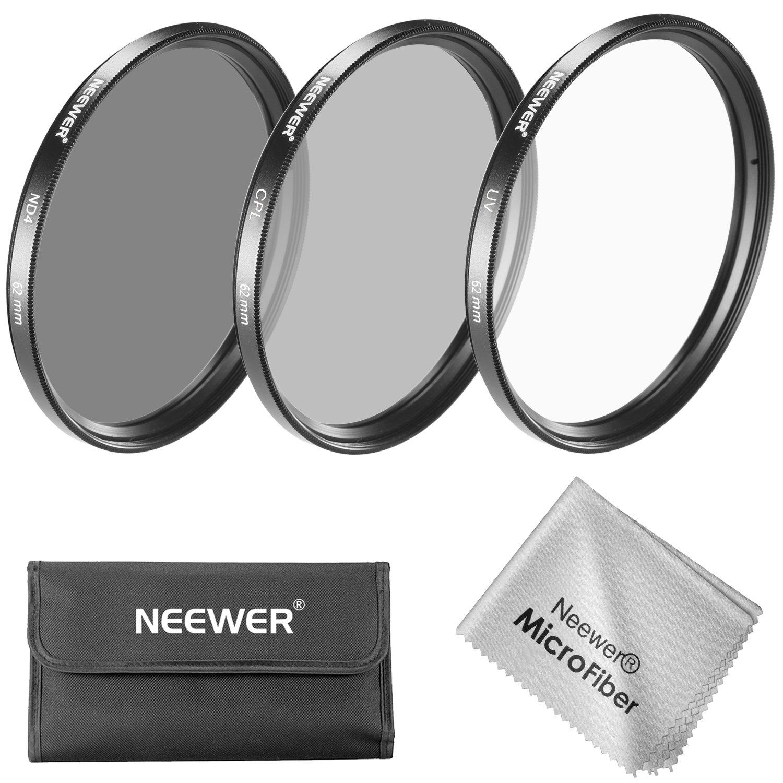 Neewer 62MM Lens Filter Kit: UV Filter + CPL Filter + ND4 Filter + Filter Pouch for PENTAX K-5 II DSLR Camera and SONY A77 DSLR Camera£º18-135mm f/3.5-5.6 Zoom Lens