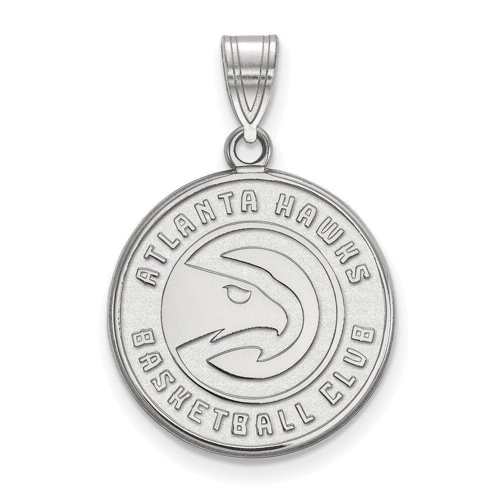 NBA Atlanta Hawks大きなロゴペンダント10 Kホワイトゴールド   B01M0P5JNY