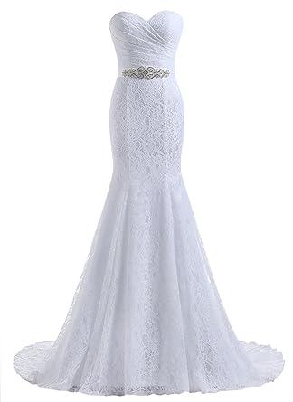 Beautyprom Vestidos de Boda del cordón de la Sirena de Novia de la ...