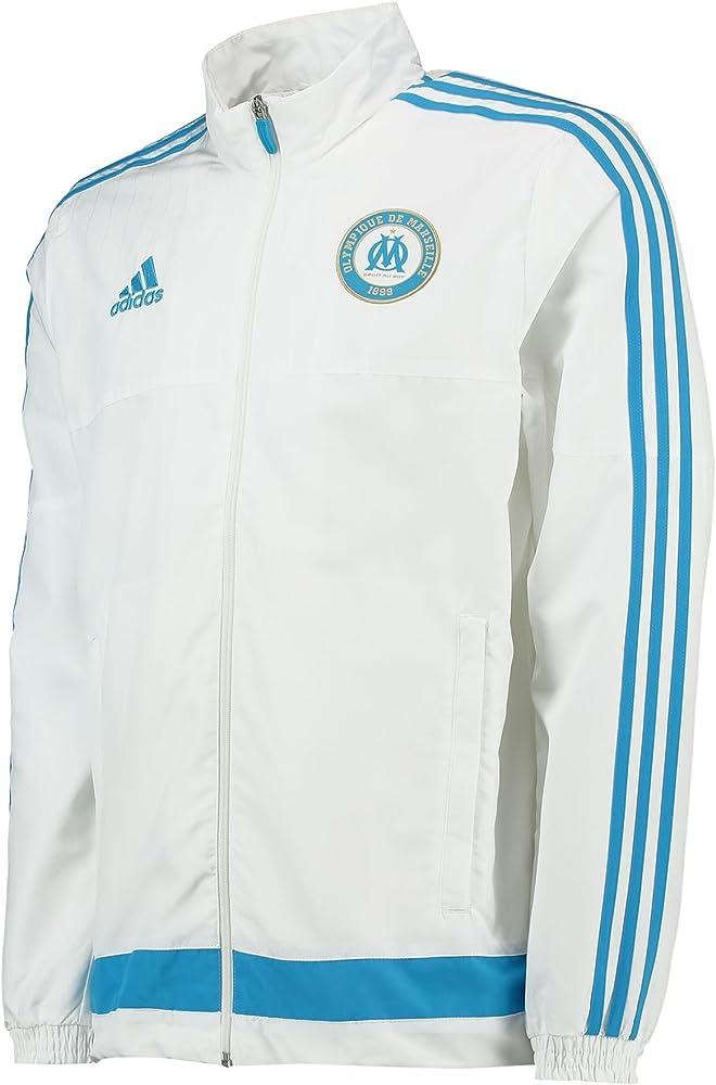 adidas OM PRES Suit - Chándal para Hombre, Color Blanco/Azul ...