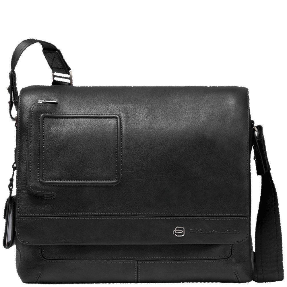 Piquadro Vibeメッセンジャーバッグ、31.5 x 26 x 9.5 cm、ブラック(ブラック)   B007MA6U32