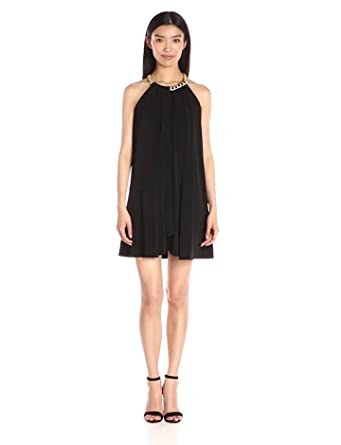 Amazon Jessica Simpson Womens Solid Ity Dress With Gold Chain