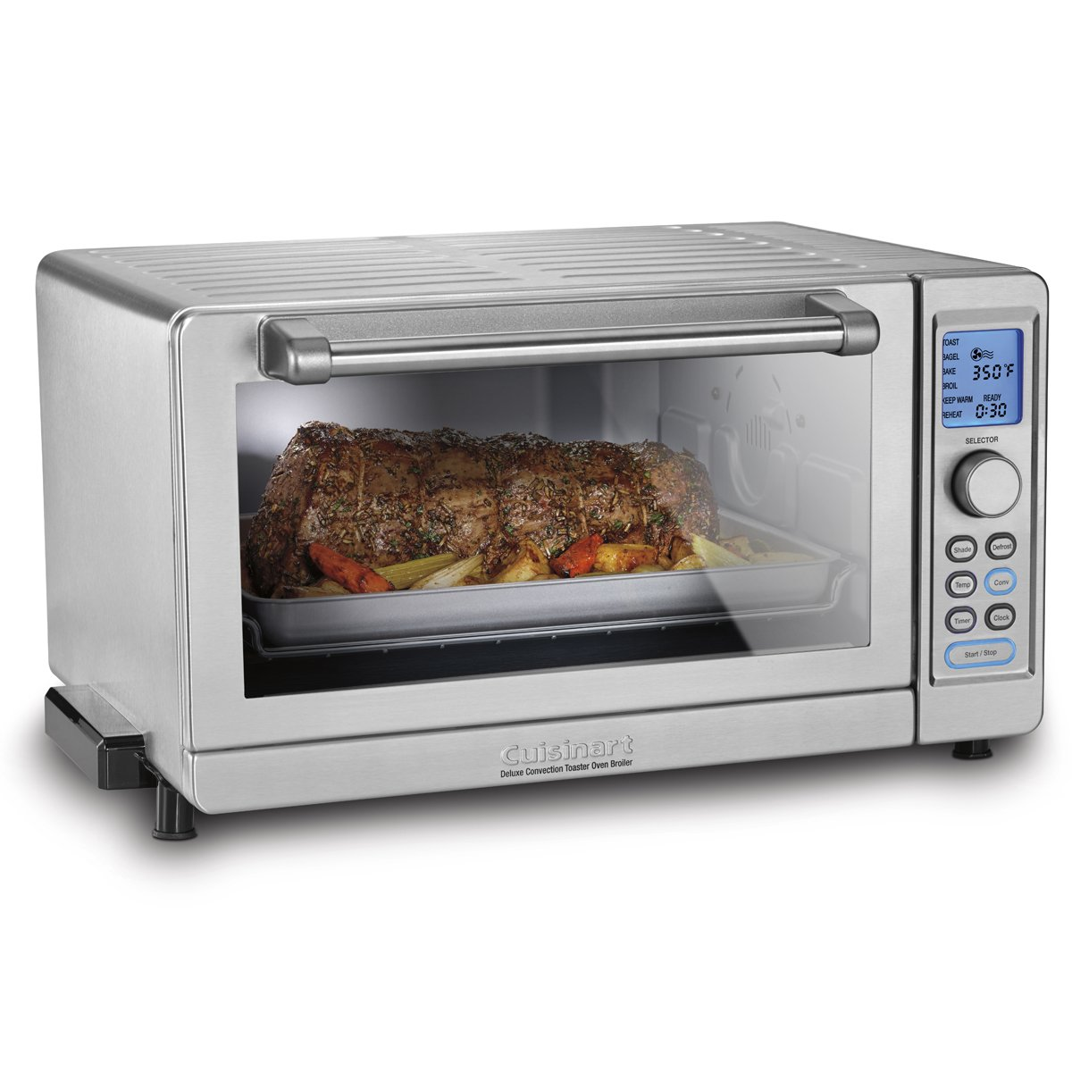 Cuisinart TOB-135NC Deluxe Convection Toaster Oven Broiler, Silver