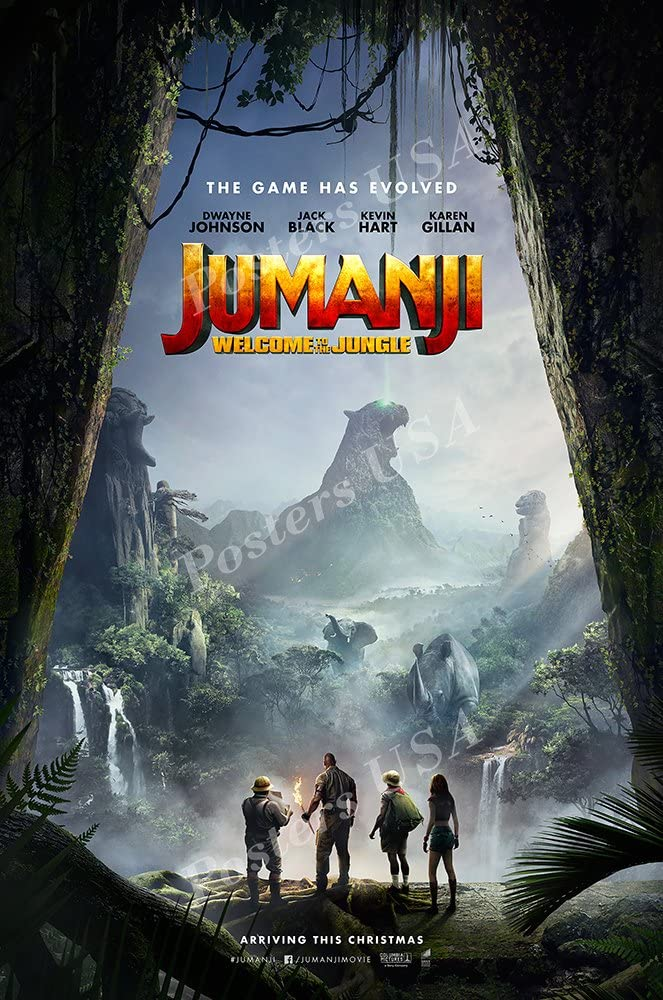 Amazon Com Posters Usa Jumanji Welcome To The Jungle 2017 Movie Poster Glossy Finish Fil634 16 X 24 41cm X 61cm Posters Prints