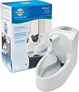 PetSafe Drinkwell Mini Pet Fountain for Cats and Small Dogs – Filtered Water – Filter Included, PWW00-14402