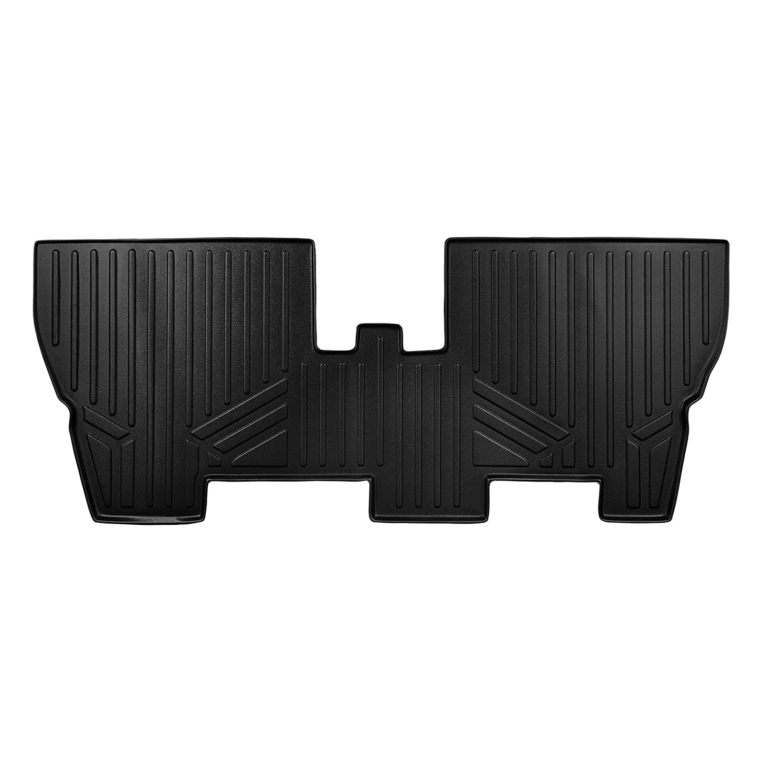 MAX LINER C0232 Custom Fit Floor Mats 3rd Liner Black for 2017-2019 Chrysler Pacifica with 2nd Row Center Console No Hybrid