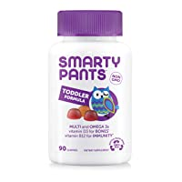 SmartyPants Toddler Formula Daily Gummy Multivitamin: Vitamin C, D3, & Zinc for...