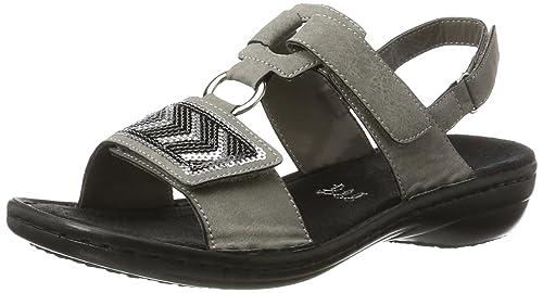 Rieker Damen 608y8 Offene Sandalen mit Keilabsatz