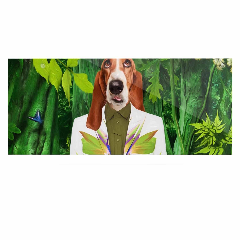 24 x 36 Kess InHouse Natt Into The Leaves N5 Green Dog Luxe Rectangle Panel