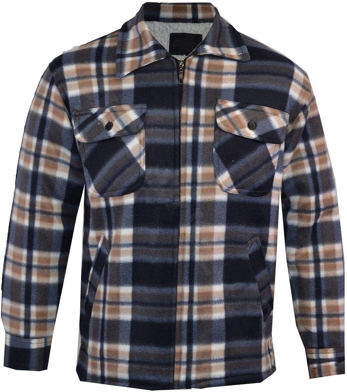 Camisa de cuadros para hombre con forro polar Sherpa, estilo leñador: Amazon.es: Ropa y accesorios