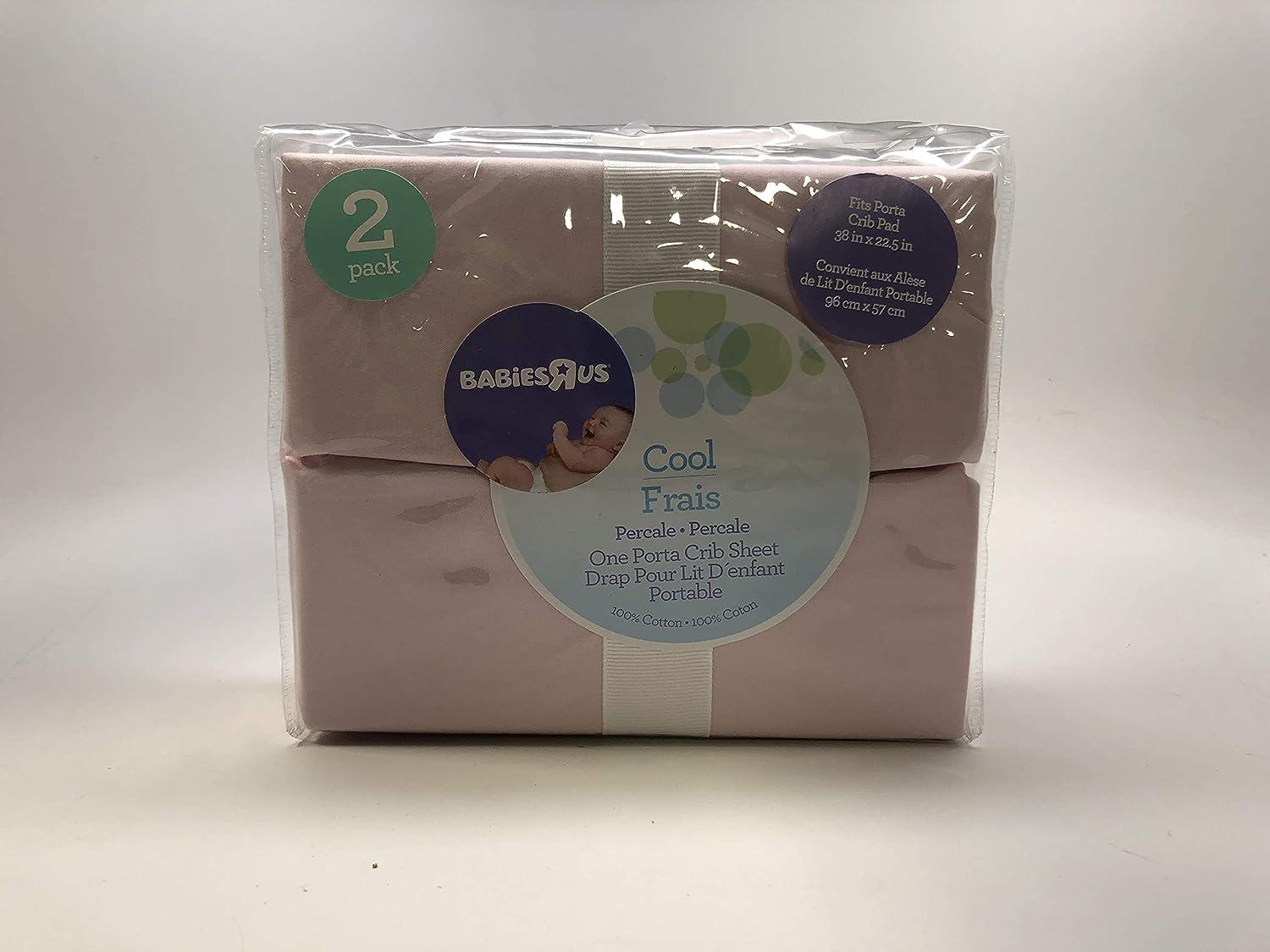 Babies'R'Us - Portable Crib Sheet(2 Pack) - Cool Pink