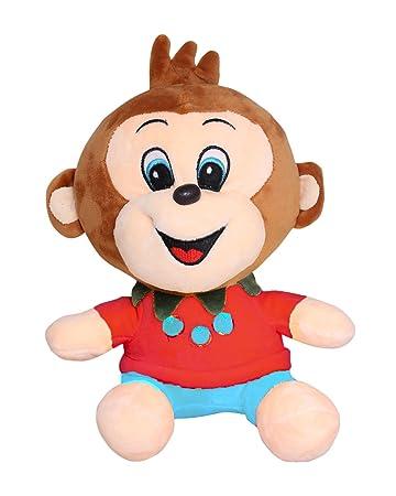 Tickles Happy Monkey Soft Stuffed for Kids 25cm (Multi 3)