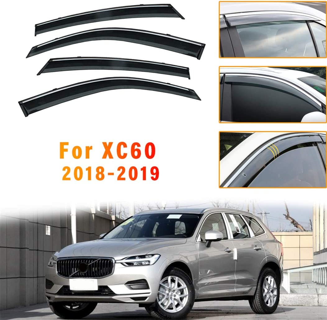 IN CHANNEL RAIN GUARDS FOR VOLVO XC90 2003-2014 4PC SET