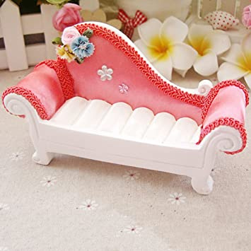Furniture Shape Sofa Couch Jewelry Rings Organizer Display Box Storage Case