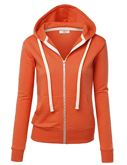87afa6433b23 MBJ Womens Active Soft Zip Up Fleece Hoodie Sweater Jacket L KOI   Amazon.in  Clothing   Accessories