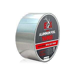 """Aluminum Foil Tape for Metal Repair and Duct Work (1.88"""" x 150' x 2.7mil)"""