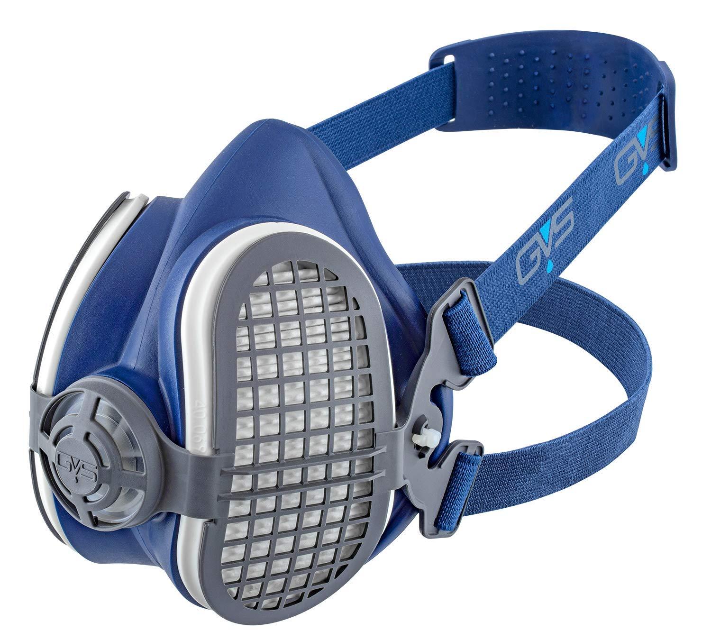 Semimáscara GVS Elipse SPR501 con filtros P3 para protección contra partículas- Talla M/L, Azul