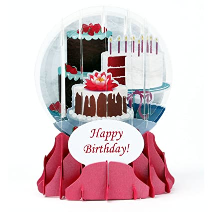 Astonishing 1 X 3D Snow Globe Birthday Cakes Birthday Card By Pop Up Snow Funny Birthday Cards Online Alyptdamsfinfo