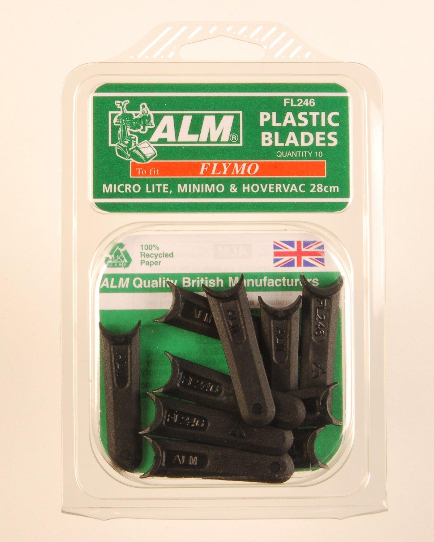 Flymo Replacement Lawnmower Microlite Half Moon Plastic Blades x 10