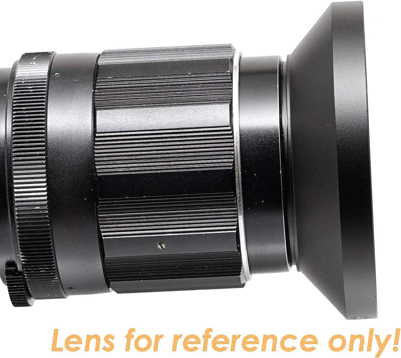 43mm Screw-in Lens Hood 43mm Lens Hood for Fuji Leica Leitz Panasonic Olympus Panasonic Sony Lens 43mm Metal Hood Fotasy Metal 43mm Vented Lens Hood