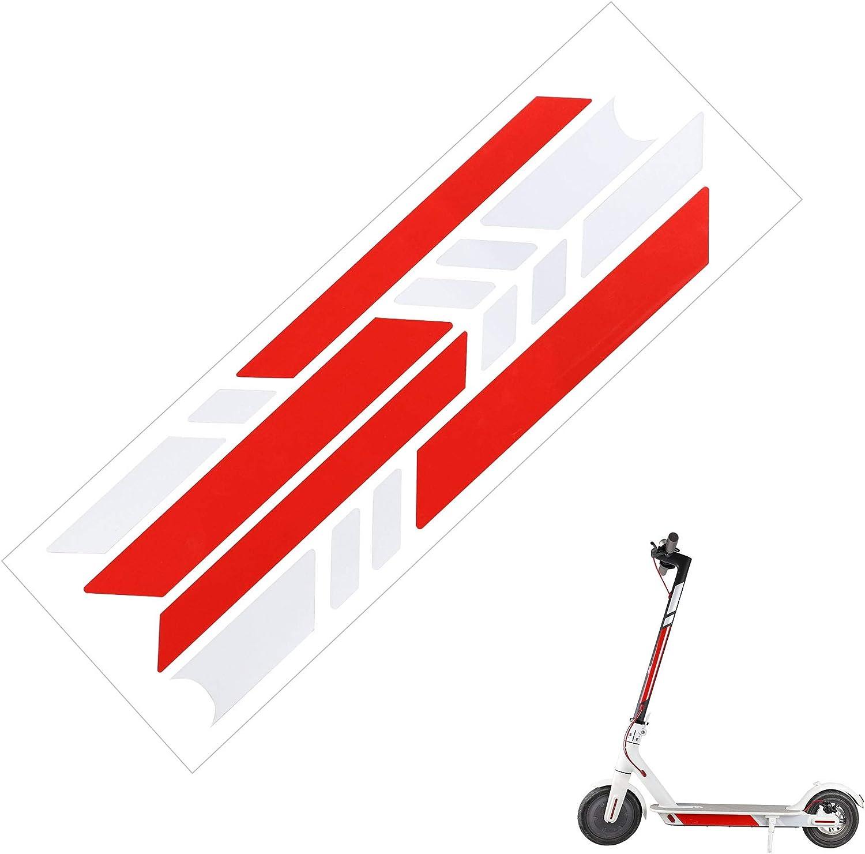Tinke 2 St/ücke Scooter Reflektor Sticker Wasserdicht Reflektoren Aufkleber Sticker f/ür Xiaomi Mijia M365 Scooter