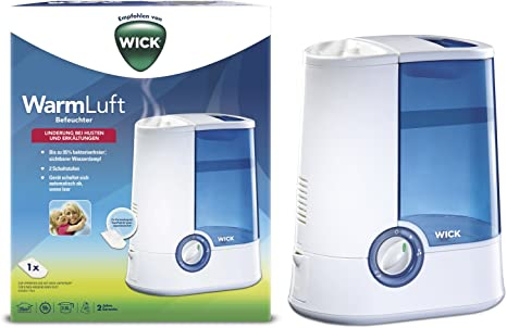 Wick Vicks Warm Mist Humidifier for Baby Health White