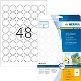 Herma 4387 - Pack de 1200 etiquetas, diámetro 30 mm, color blanco