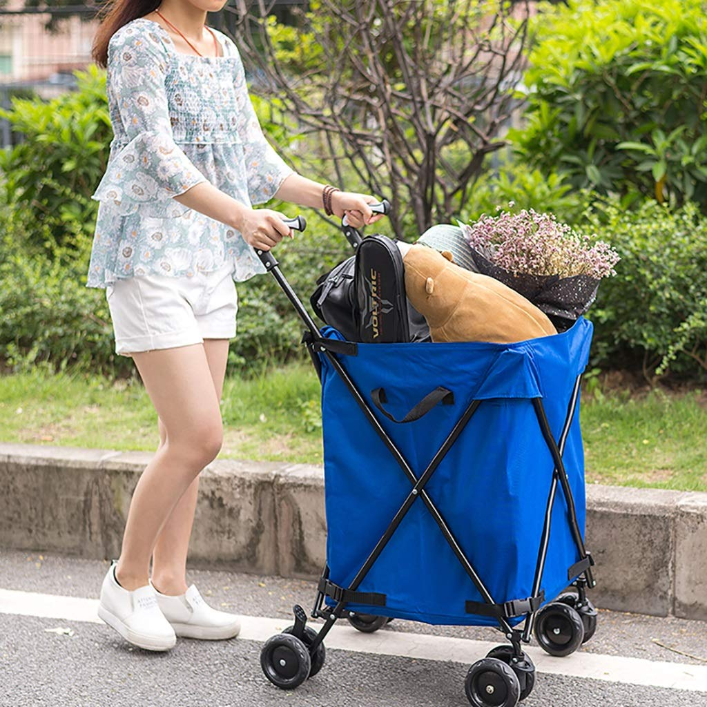 Supermarket Shopping cart, Three Seconds Folding Towel Storage Box Hotel Room Service car Hair Trolley by HT trolley (Image #3)
