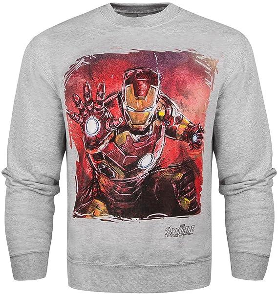 Marvel Oficial Avengers 2 Edad de ultrón de Iron Man sudadera – gris Gris gris