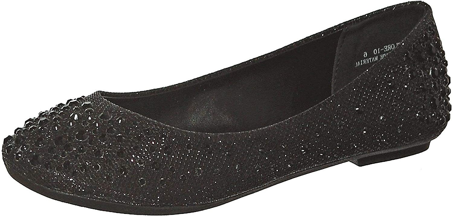 Bella Marie Angie-53 Women's Classic Pointy Toe Ballet Slip On Suede Flats Black 7.5