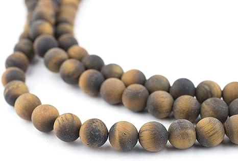 TEN BEADS 10 6mm Tiger Eye Gemstone Round Beads
