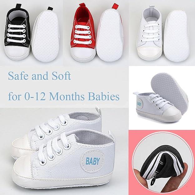 617fce9794d90 Sharplace Chaussures Bébé Basket Lacet Chaussons Bébé Toile Antidérapant  Semelle Souple  Amazon.fr  Chaussures et Sacs